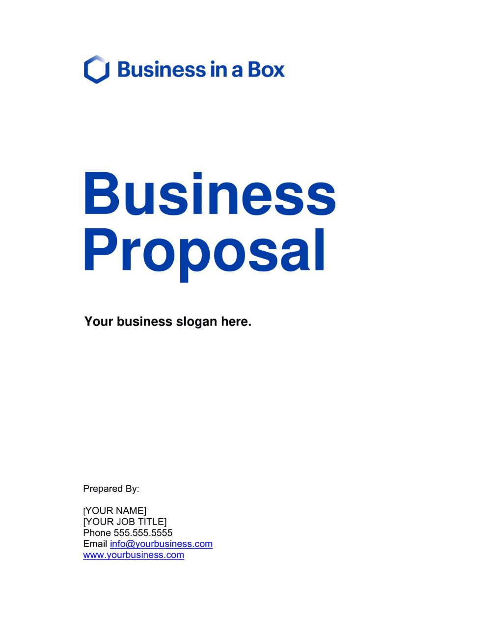 Business-in-a-Box's Business Proposal Template