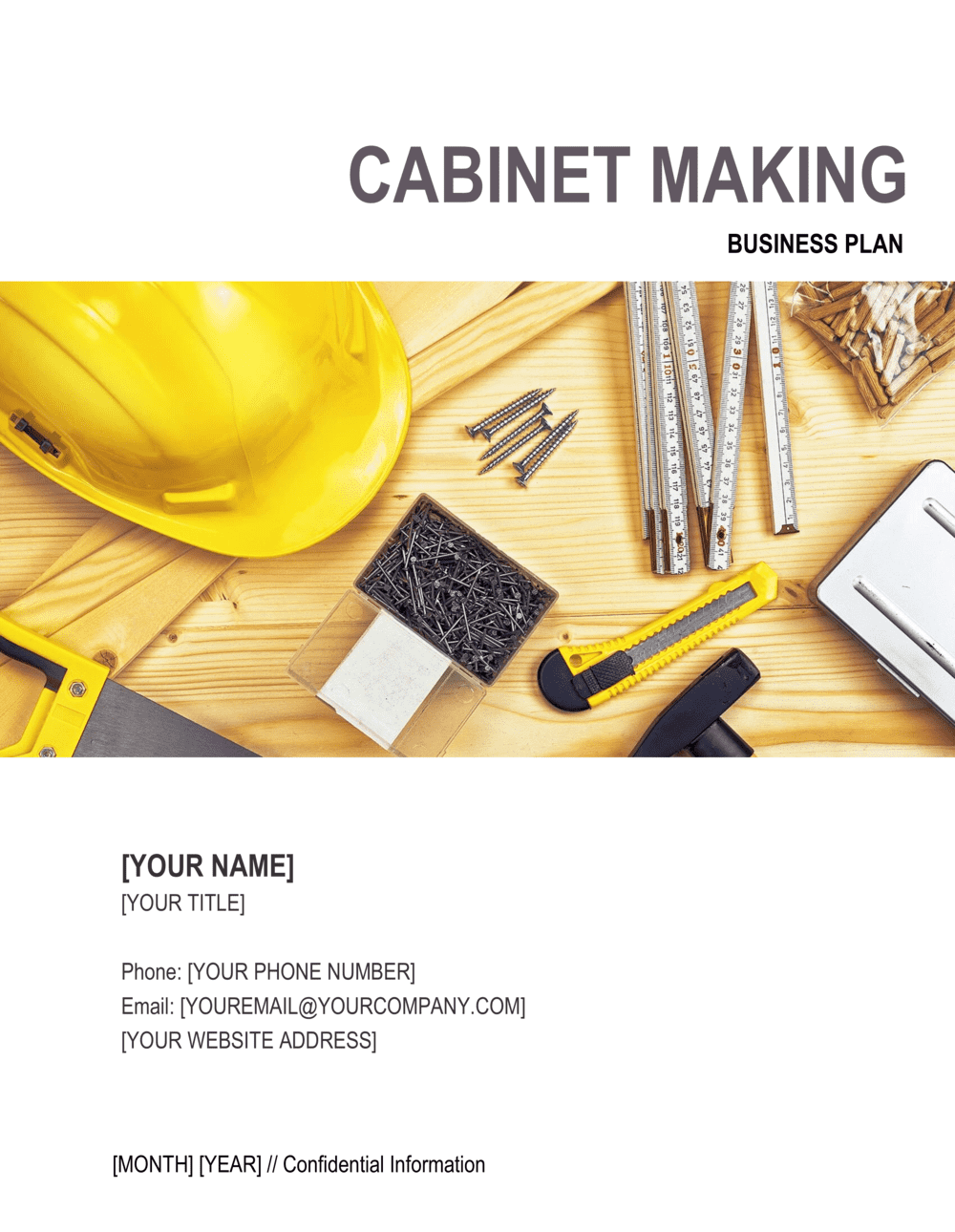 Business-in-a-Box's Cabinet Making Business Plan Template