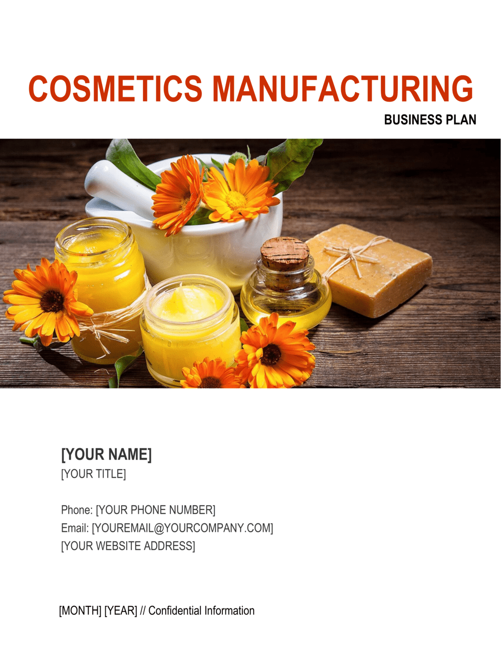 Business-in-a-Box's Cosmetics Manufacturing Business Plan Template