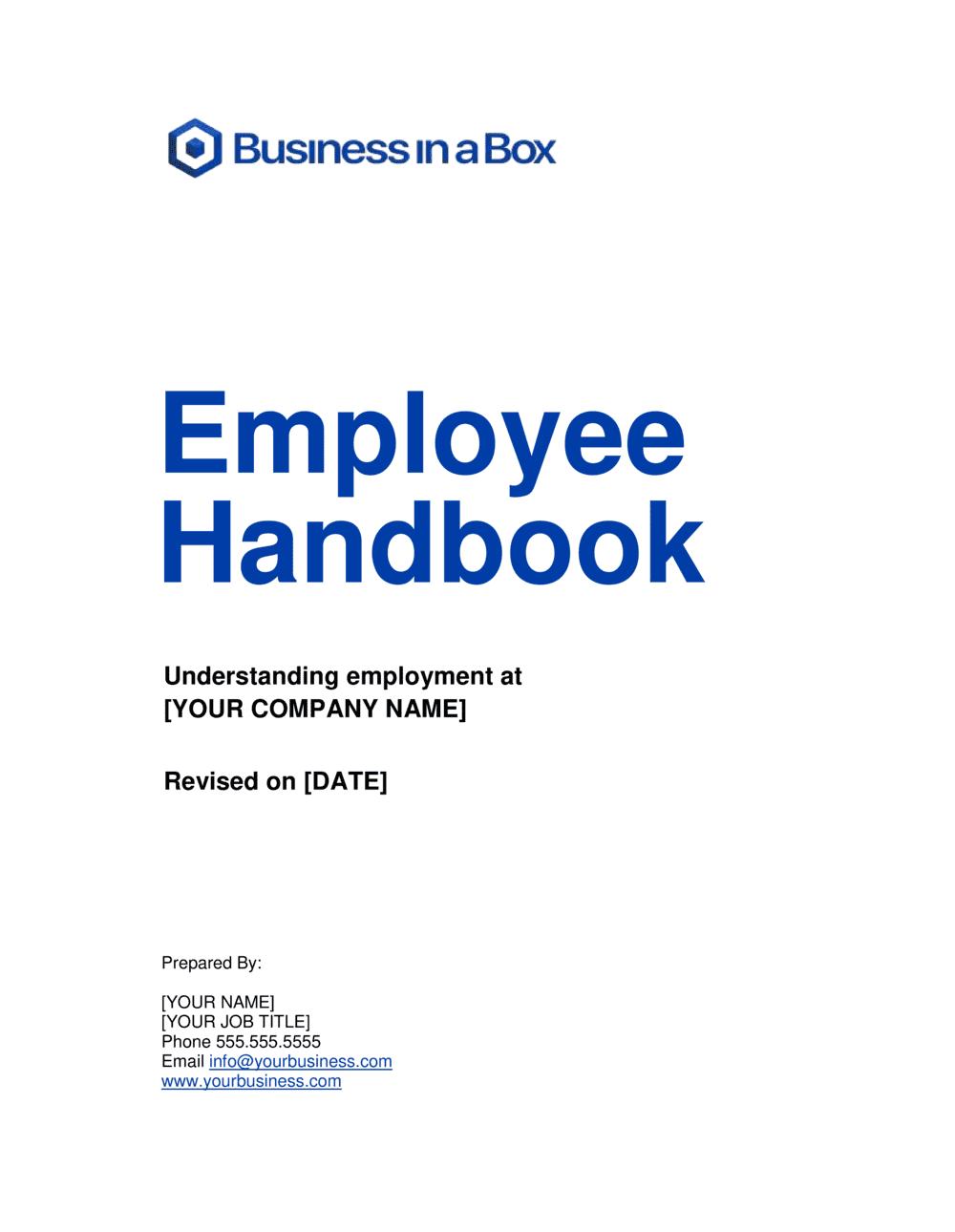 Business-in-a-Box's Employee Handbook Template