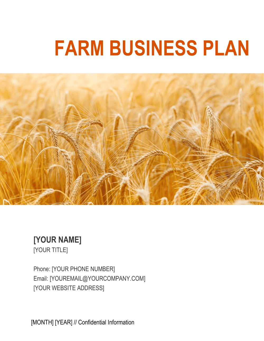Business-in-a-Box's Farm Business Plan Template