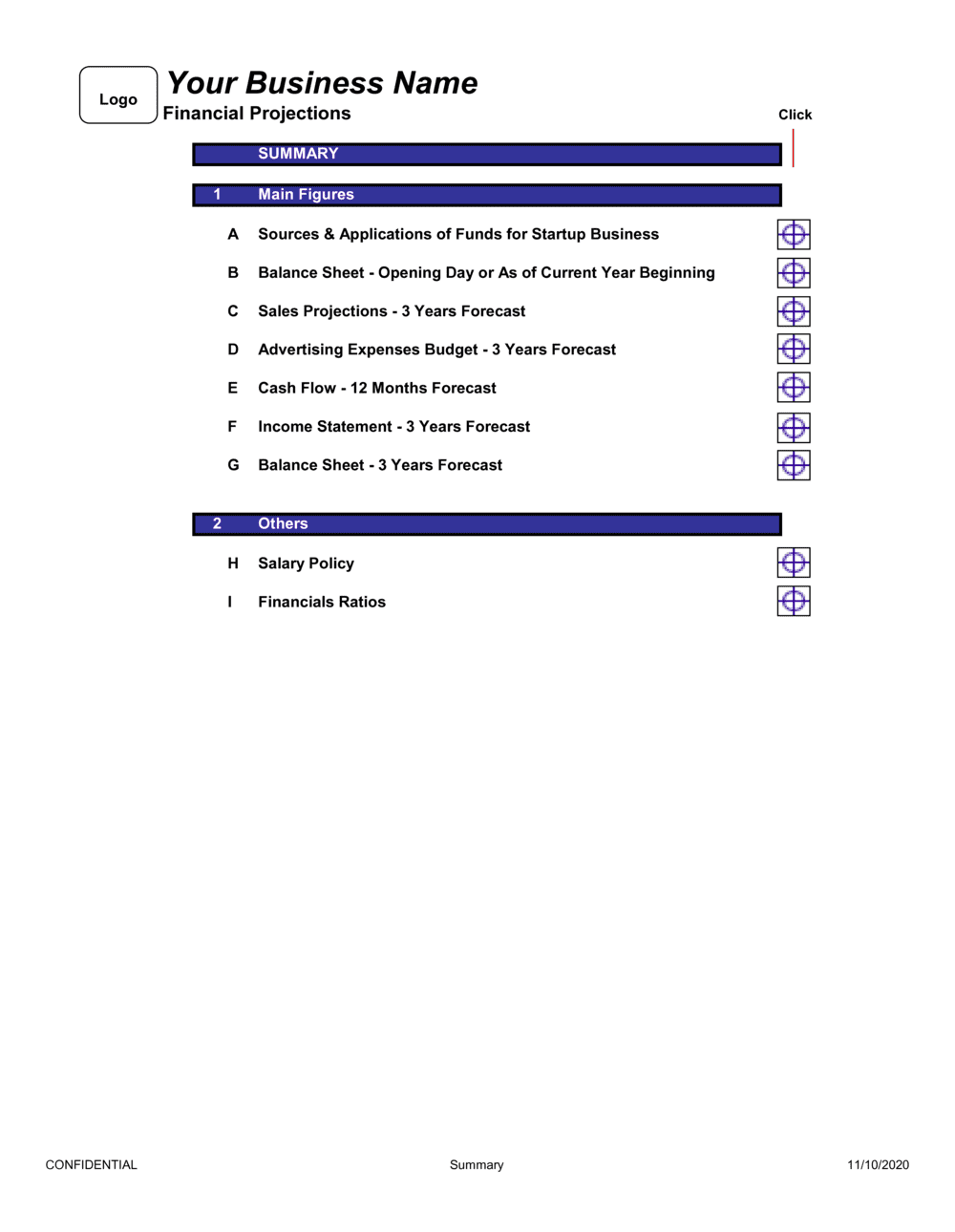 Business-in-a-Box's Financial Projections 3 Years Template