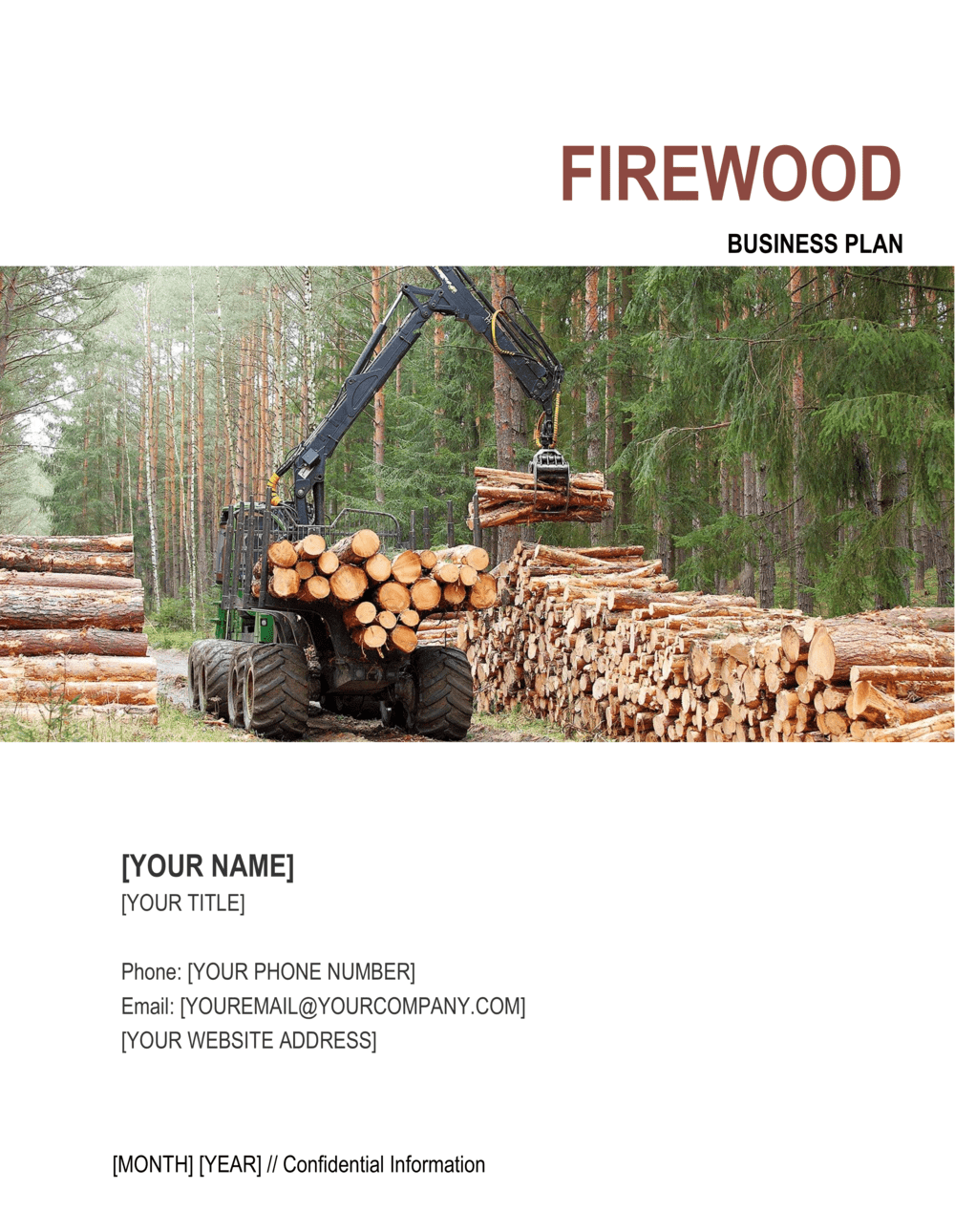 Business-in-a-Box's Firewood Business Plan Template