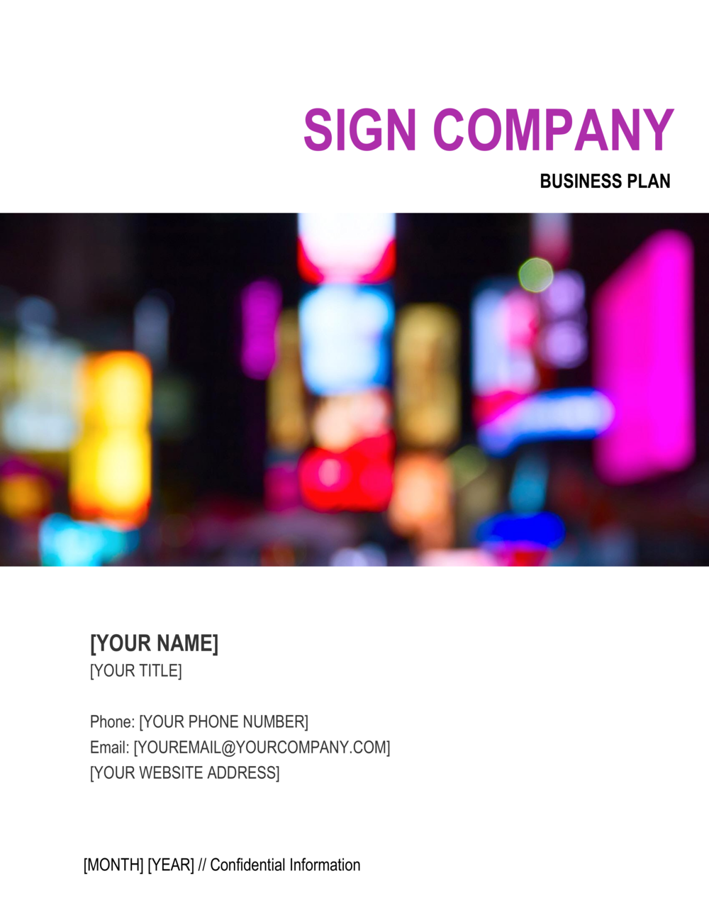 Business-in-a-Box's Sign Company Business Plan Template