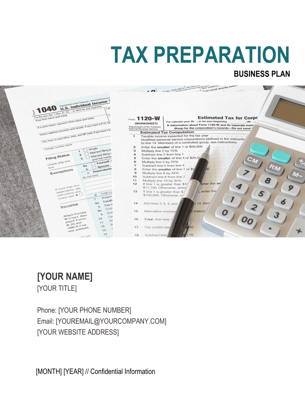 Business-in-a-Box's Tax Preparation Company Business Plan Template