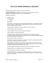 Estatuto Empresas e Negócios