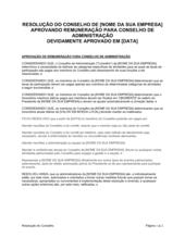 Resolução da Diretoria Aprovando Compensação para Mesa de Diretores