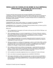 Resolução da Diretoria Aprovando Fusão