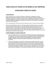 Resolução da Diretoria Aprovando Venda de Ações