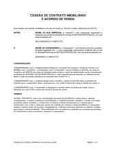 Atribuição de Contrato de Bem Imóvel e Acordo de Vendas