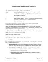 Acordo de Gerenciamento de Projeto