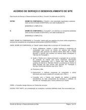 Acordo de Desenvolvimento e Serviço de Web Site