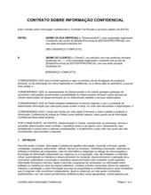 Acordo de Informação Confidencial
