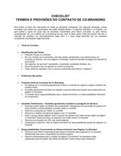 Lista de Conferência Acordo de Co-Marca