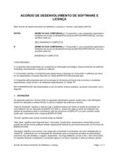 Acordo de Desenvolvimento de Software e Licença