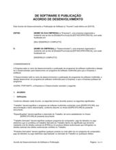 Acordo de Desenvolvimento de Software e Publicação