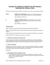 Acordo de Desenvolvimento de Software e Serviços de Consultoria