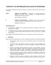 Acordo de Distribuição Exclusiva do Software