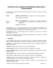 Acordo de Licença de Software Orientado ao Licenciador