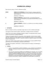 Acordo de Licença Formulário Curto