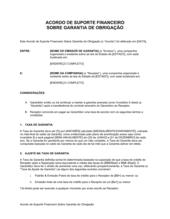 Acordo de Suporte Financeiro Sobre Garantia de Obrigação