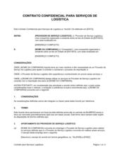 Contrato de Serviços Logísticos