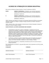Acordo de Atribuição de Design Industrial