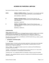 Acordo de Parceria Limitada 2