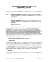 Acordo de Uniao LLC com Interesse de Compra