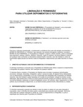 Liberação e Permissão para Usar Testemunhos e Fotografias