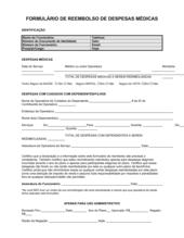 Formulário de Reembolso Gastos Médicos
