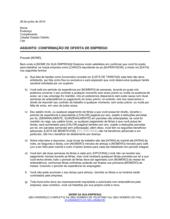 Carta Confirmando Termos do Emprego