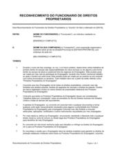 Reconhecimento dos Direitos Proprietários do FUncionário