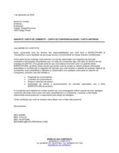 Carta Lembrete Carta de Confidencialidade ou Antiga Carta