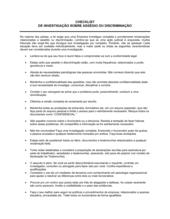 Lista de Conferência Investigação Sobre Abuso