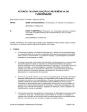 Acordo de Liberação de Referência do Funcionário