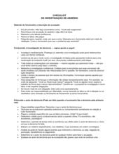 Lista de Conferência Investigação de Abuso