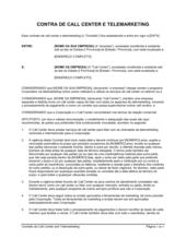 Acordo de Call Center e Telemarketing