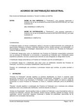 Acordo de Distribuição de Manufatura