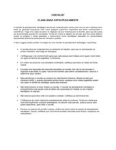 Lista de Conferência Planejamento Estratégico