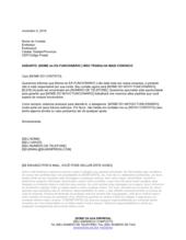 Carta de Consumidor para Funcionário que Saiu
