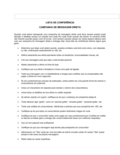Lista de Conferência Campanha de Correio Direto