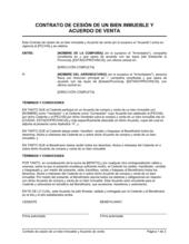 Contrato de cesión de un bien inmueble y acuerdo de venta