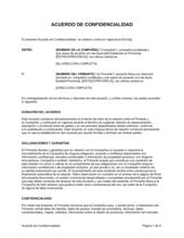 Acuerdo de confidencialidad para los consultores, contratistas