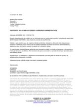 Carta de cobro errores administrativos