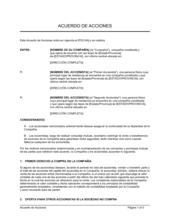 Acuerdo de acciones