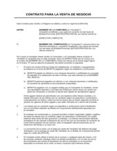 Acuerdo de compraventa de activos comerciales resumido