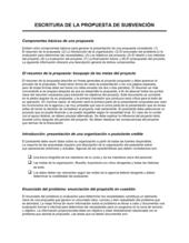 Escrito de la propuesta de subvenciones