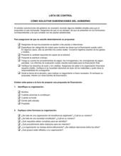 Lista de ítems a tener en cuenta ¿cómo aplicar las subvenciones otorgadas por el gobierno