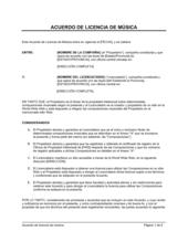 Acuerdo de licencia de música